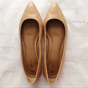 [Corso Como] camel leather pointed toe flats 9.5